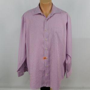 Peter Millar long sleeve button down.  17 1/2 L